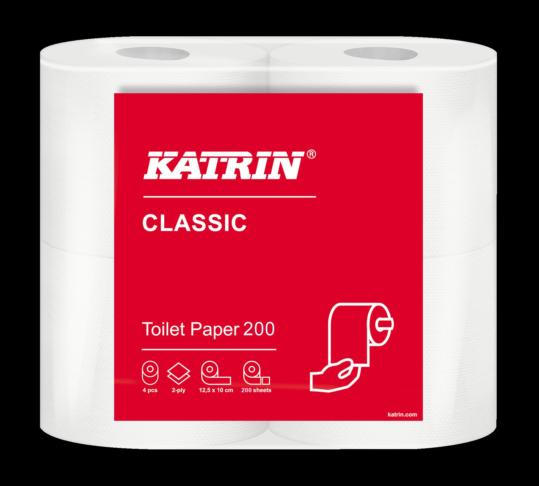 Katrin Classic Toilet 200 wc-paperi
