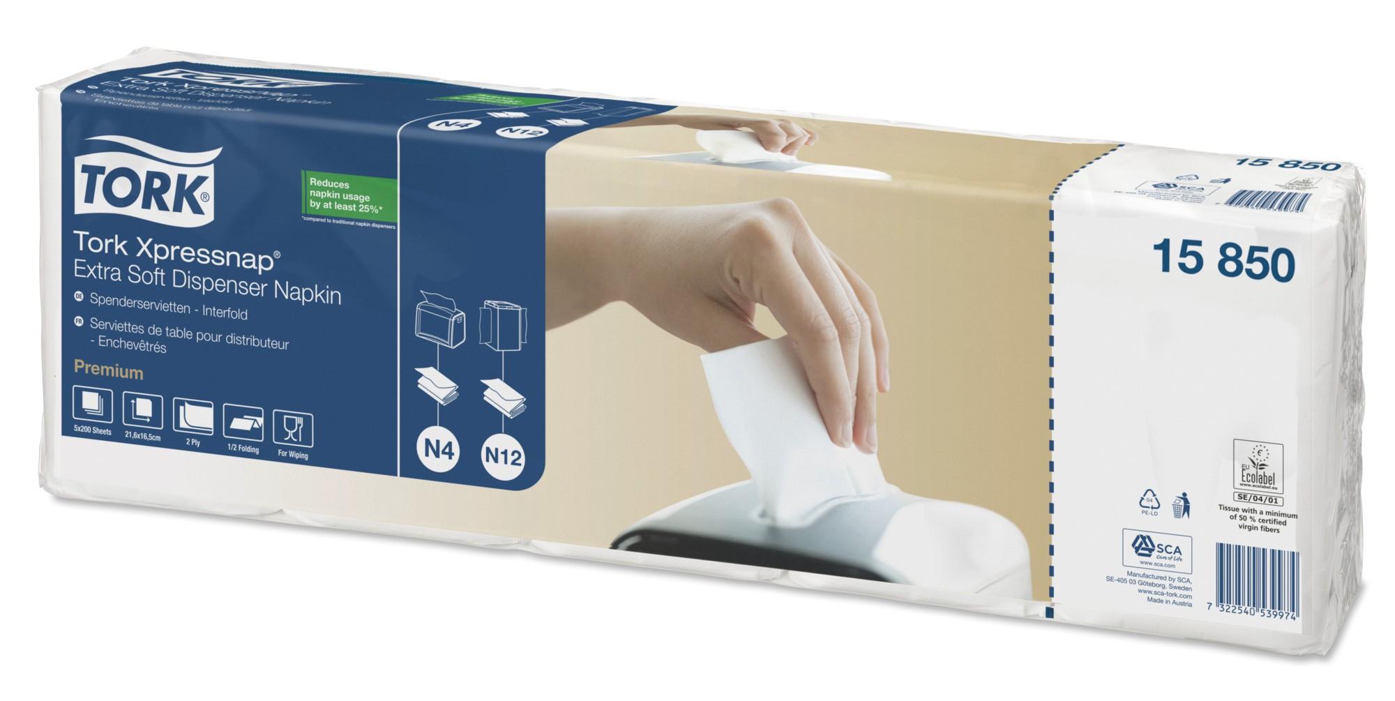Tork Xpressnap® N4 Extra Soft annostelijaliina valkoinen 1/2