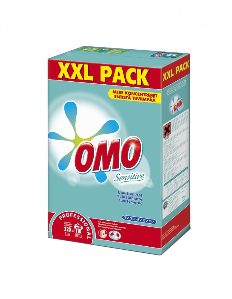 OMO Sensitive Professional pyykinpesujauhe 7,7kg